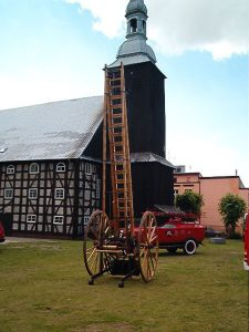 drabina drewniana produkcji niemieckiej z 1907 r.